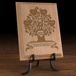 Personalized Our Family Tree Wooden Plaque
