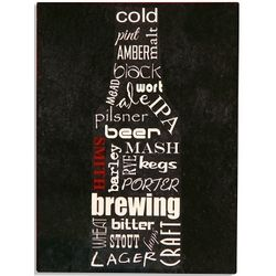 Personalized Typographical Beer Sign