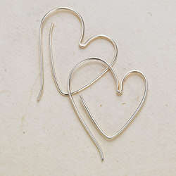 Heart Hoop Earrings
