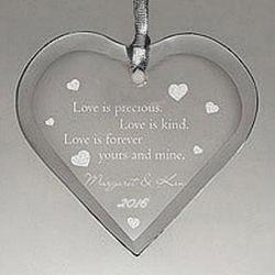 Love is Precious Personalized Ornament