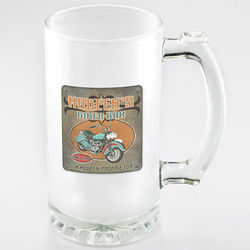 Personalized Biker Bar Frosted Mug Set