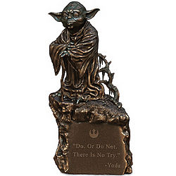 Master Yoda Desk Lamp with Inspiring Quote and Illuminated Base