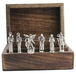 Personalized Heroes Box of Pewter Saint Statues