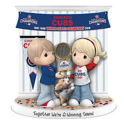 Together We're a Winning Team Chicago Cubs Champions Figurine