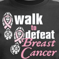 Personalized Walk to Defeat Breast Cancer T-Shirt