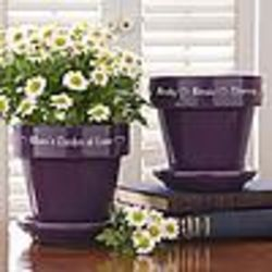 Garden of Love Purple Flower Pot