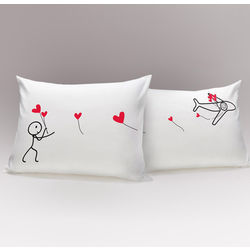 No Matter The Miles His & Hers Matching Couple's Pillowcases