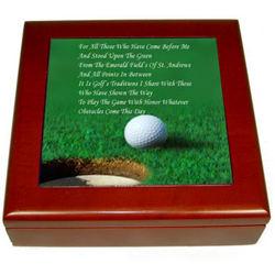 Deluxe Golfers Keepsake Box