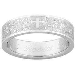 "Ladies Stainless Steel ""Be Still"" Prayer Band"