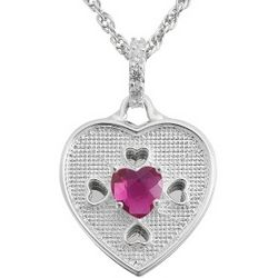 Siena Swing CZ Birthstone Heart Necklace