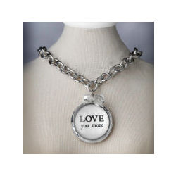 Love You More Bubble Charm Necklace