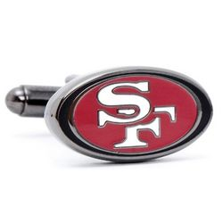San Francisco 49er's Enamel Cufflinks