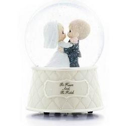 Precious Moments Wedding Musical Waterglobe Cake Top