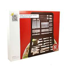 32 Piece Stainless Steel Barbeque Tool Set