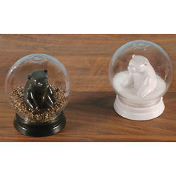 Polar Bear Snow Globe Salt & Pepper Shakers