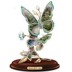 Thomas Kinkade Garden Of Serenity Butterfly Sculpture