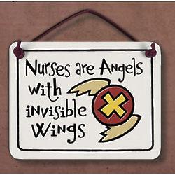 Nurses are Angels Ceramic Plaque