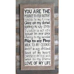 Love of My Life Slat Sign