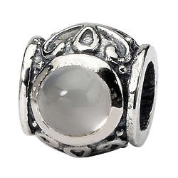 Sterling Silver Moonstone Charm