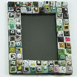 Small Spiral Recycled Magazine Photo Frame