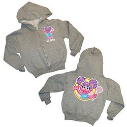 Personalized Sesame Street and Nickelodeon Zip Hoodie