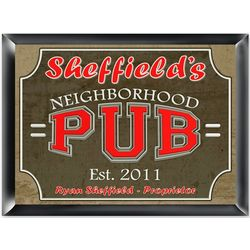 Personalized Neighborhood Pub Sign