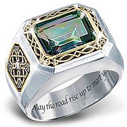 The Legend of Ireland Mystic Topaz Men's Ring