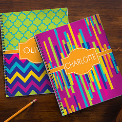 Girl's Bright and Cheerful Personalized Notebooks