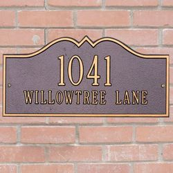 Hillsboro Personalized Address Marker
