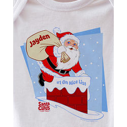 Personalized Santa Claus Is Coming To Town Bodysuit