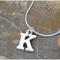 Personalized Silver Initial Pendant Necklace