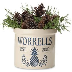 Pineapple Personalized Crock with Name and Year Established