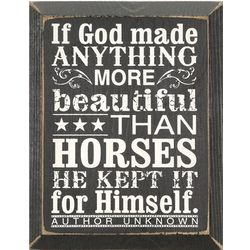 Beautiful Horse Wooden Plaque