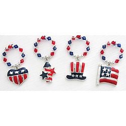 Patriotic Wine Charms