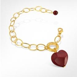 Hope Murano Glass Heart Charm Bracelet
