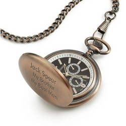 Satin Bronze Pocket Watch with Keepsake Box