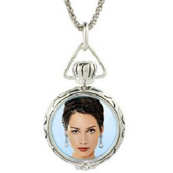 Sterling Silver Round Picture Frame Photo Locket