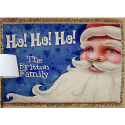 Personalized Santa Tapestry Throw Blanket