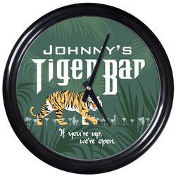 Personalized Tiger Bar Clock