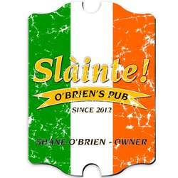 Personalized Pride of the Irish Vintage Pub Sign