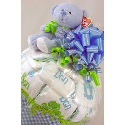 Personalized Diaper Deluxe Half Bushel Gift Basket