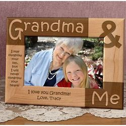 Personalized Grandma Me Wooden Picture Frame Findgiftcom