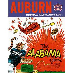 1969 Auburn Vs. Alabama Canvas Historic Football Poster
