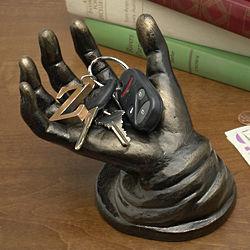 Cast Iron Hand Sculpture
