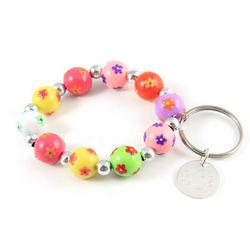 Personalized Happy Day Charm Bracelet Keychain