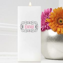 Personalized Glamour Girl Square Friendship Candle