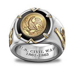 Men's 150th Anniversary U.S. Civil War Ring