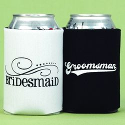 Bridesmaid and Groomsman Can Coolers