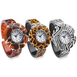 Animal Print Cuff Watch