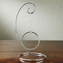 Curved Silver Christmas Ornament Display Stand